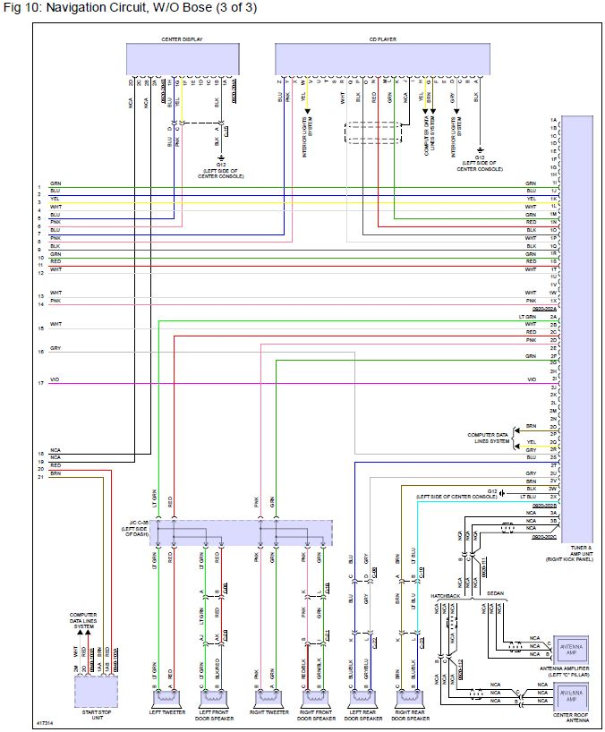 2015 Wiring Diagram? Need speaker wire colors | 2004 to 2020 Mazda 3 Forum  and Mazdaspeed 3 ForumsMazda 3 Revolution