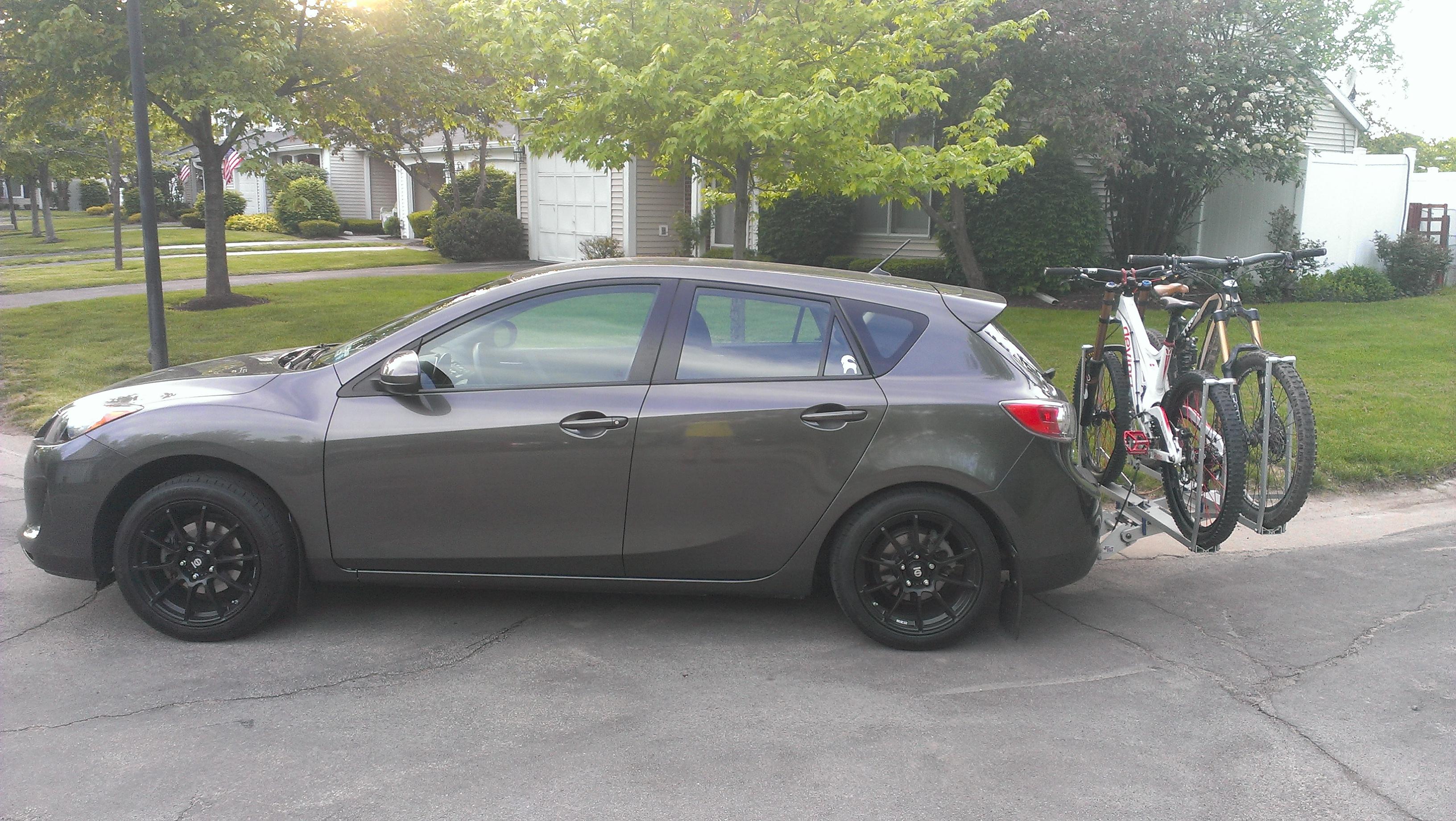 Mazda 3 Hatch With Bike Rack Stiffer Springs 2004 To 2016