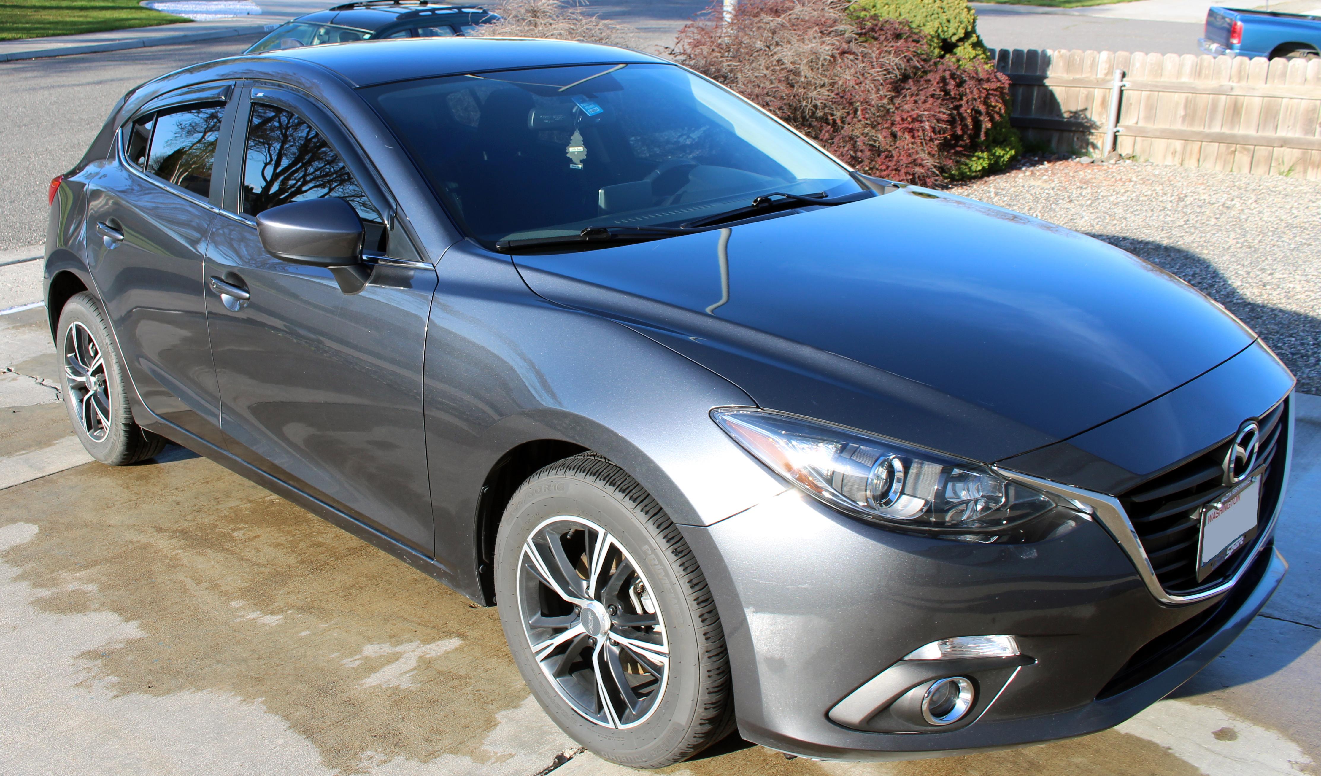 BHN1-V3-700 Genuine Mazda3 /& 3 Sport Door Visors 2014-2018 Mazda 3 /& 3 Sport