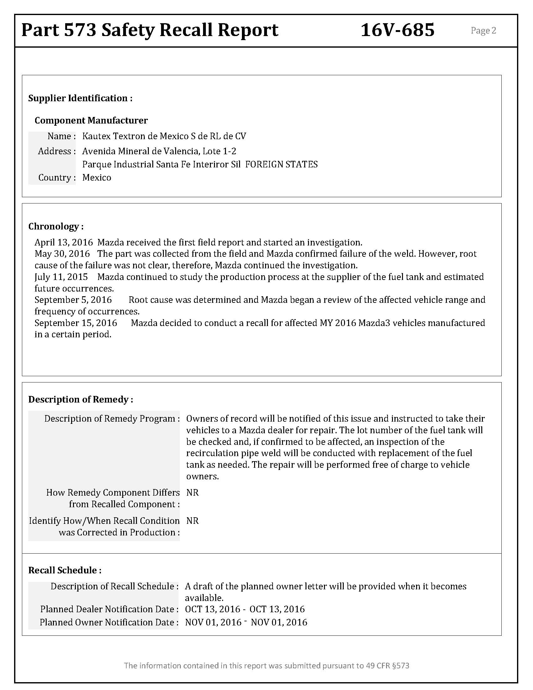 Mazda Recalling 2014-2016 3s for possible faulty fuel tank - Page 3 ...