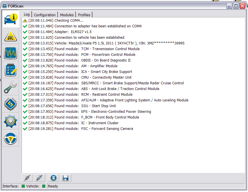 Change configuration (explore different functions ASbuilt) | 2004 to