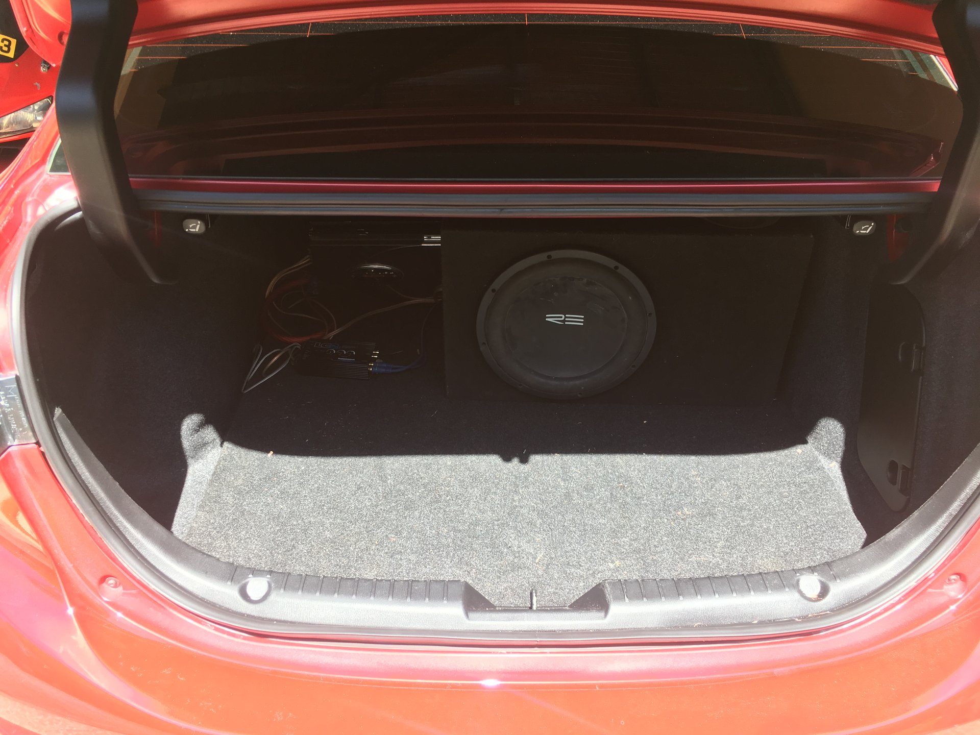 Aftermarket Sub Install on 2017 Mazda 3 (Non Bose) | 2004 to