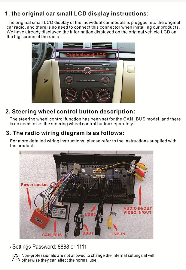 Aftermarket Head Unit In A 2004 Mazda 3, 2018 Mazda 3 Stereo Wiring Diagram